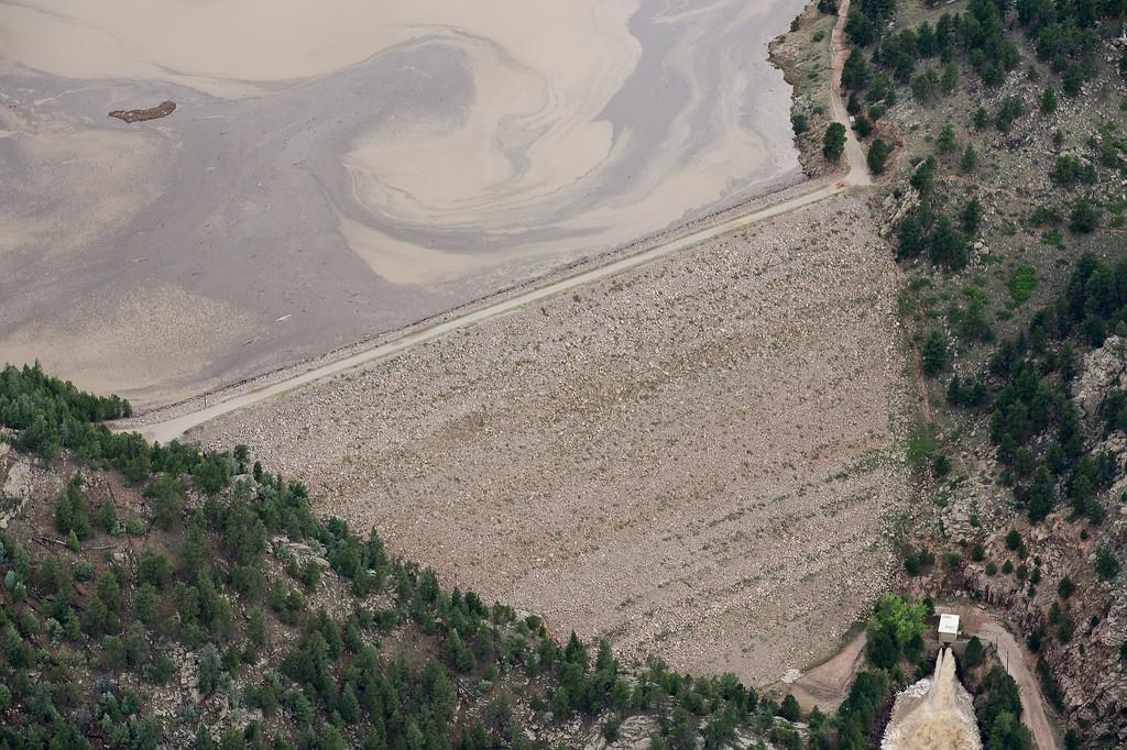 Description of . Button Rock Dam is seen intact, Saturday, Sept. 14, 2013, near Lyons. (Matthew Jonas/Times-Call)