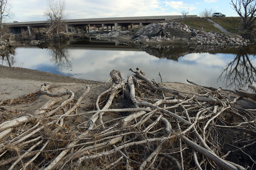 Description of . Flood damage in the northeast corner of St. Vrain State Park Saturday Nov. 16, 2013. (Lewis Geyer/Times-Call)