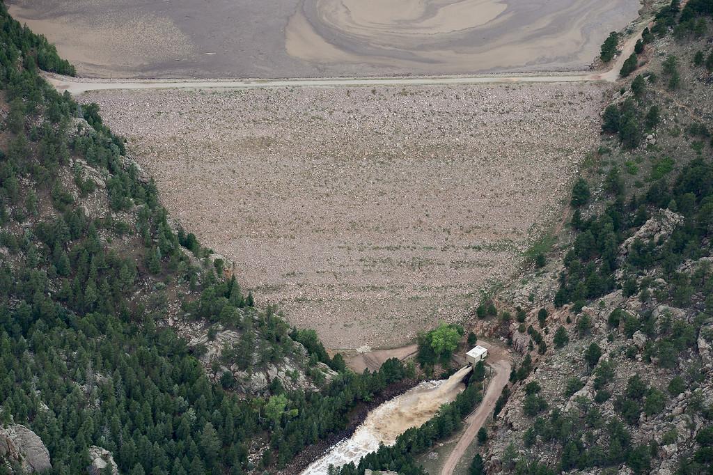 . Button Rock Dam is seen intact, Saturday, Sept. 14, 2013, near Lyons. (Matthew Jonas/Times-Call)