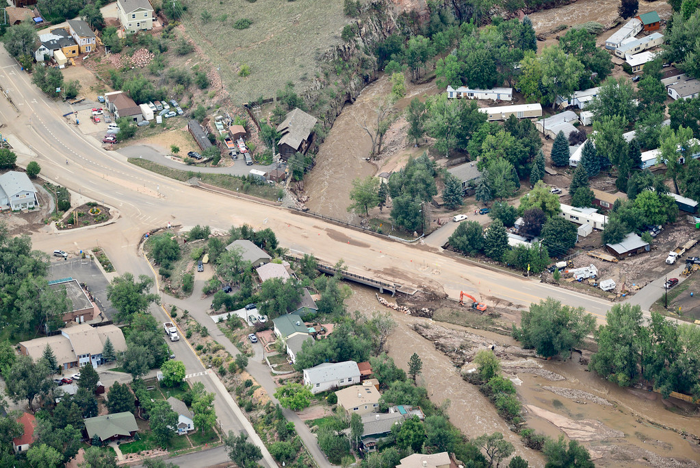 . Highway 36 is seen near the north west side of town, Saturday, Sept. 14, 2013, in Lyons. (Matthew Jonas/Times-Call)