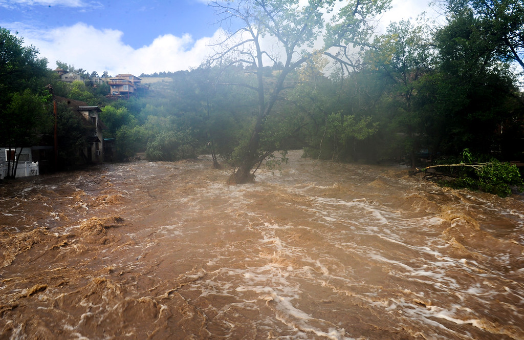 . St. Vrain River in Lyons Friday, Sept. 13, 2013. For more photos visit www.TimesCall.com. (Greg Lindstrom/Times-Call)