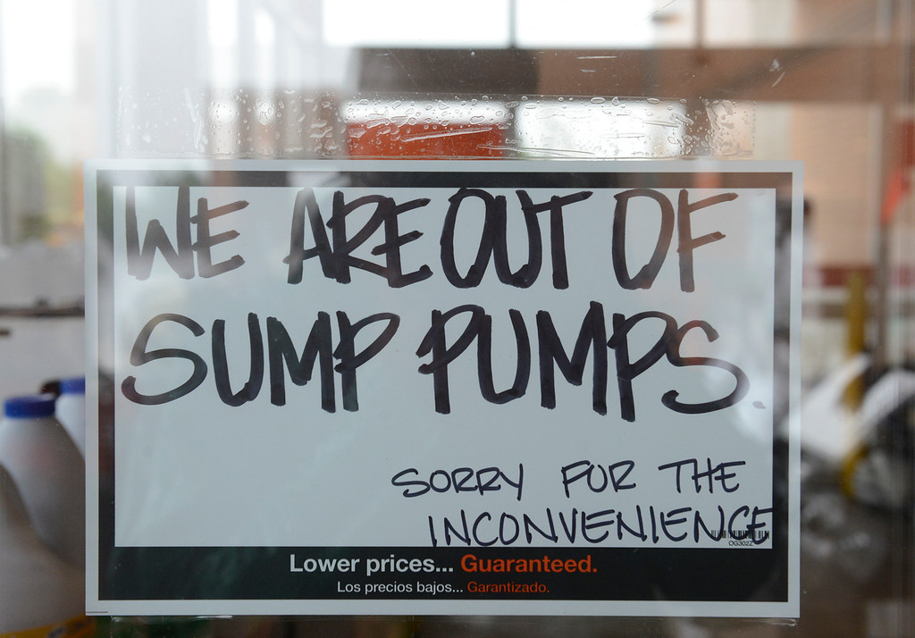 . A sign at Home Depot Thursday, Sept. 12, 2013. (Lewis Geyer/Times-Call)